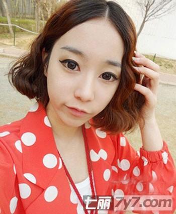 2013最新韩式短发发型图片 时尚减龄浪漫邂逅桃花图片