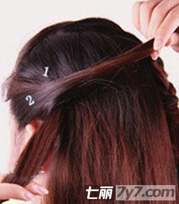 2013年最新瘦脸发型 两款韩式编发盘发步骤教程