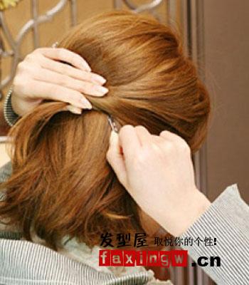 两款中短发气质ol发型扎法 详细步骤一学就会图片