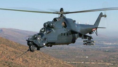 俄罗斯米-24母鹿武装直升机(资料图)