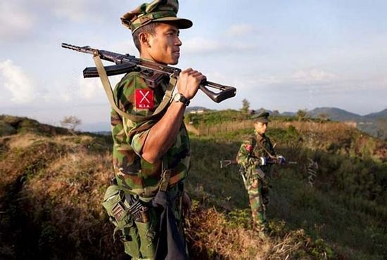 资料图:缅甸克钦独立军士兵