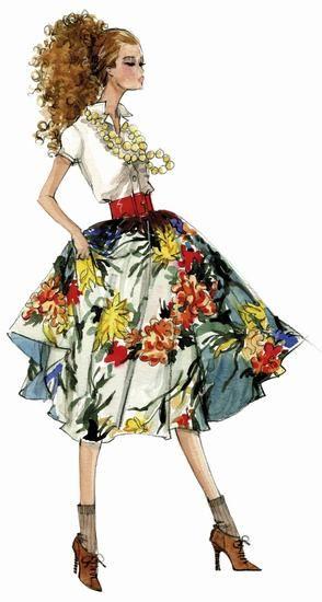 50年代: 圆形裙