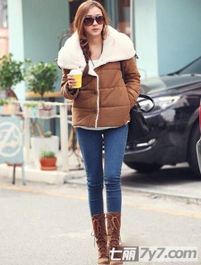 冬季韩版棉衣VS呢子大衣搭配 那种更适合你的风格