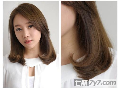 韩国最新流行的发型图片 个性时尚瘦脸发型