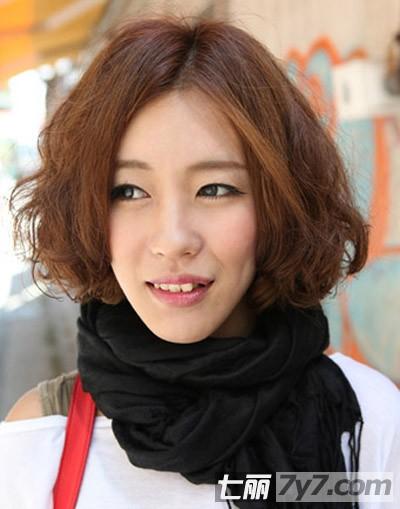 2013最新韩式短发蛋卷头发型 减龄卖萌时尚过冬【7】