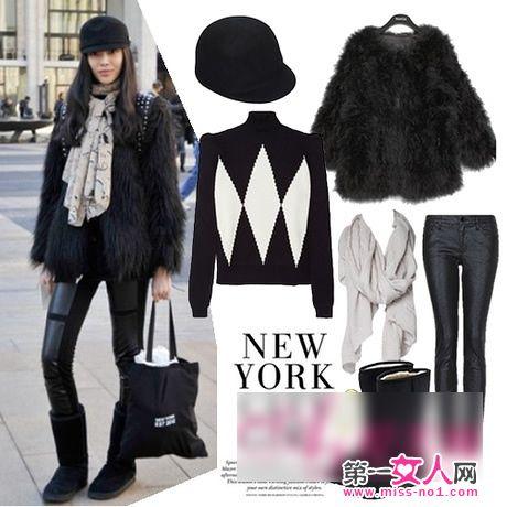 緊身褲+厚外套 最顯瘦冬裝搭配法
