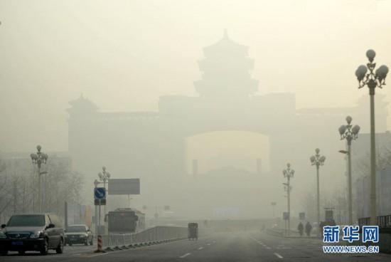 """(图文互动)(1)北京PM2.5指数濒临""""爆表"""" 空气质量持续六级严重污染"""