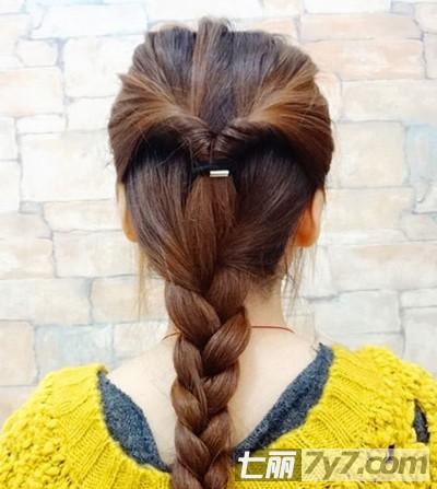 韩式麻花辫发型扎法步骤