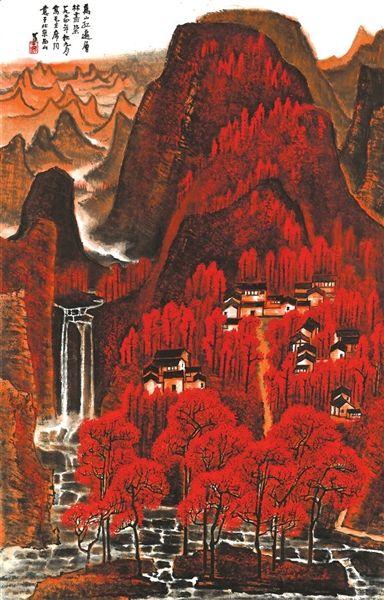 李可染《万山红遍》北京保利供图