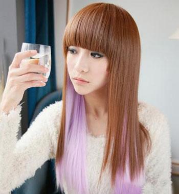 2013年最新染发颜色 浪漫迷人的招桃花发型--