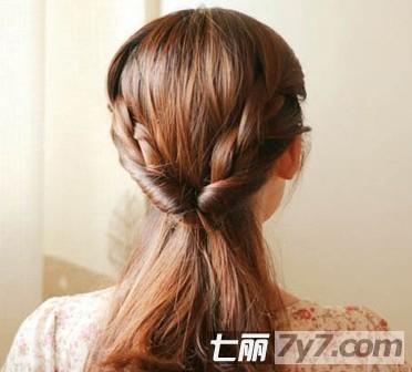 瘦脸减龄发型 韩式编发盘发教程