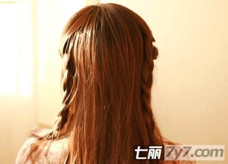 最新瘦脸减龄发型 韩式简单编发盘发教程【3】