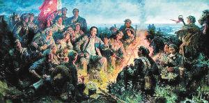 《革命理想高于天》(油画)  沈尧伊 作