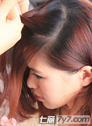 好看的刘海编发盘发发型图片图片