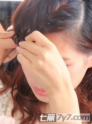 好看的刘海编发盘发发型 简单教程打造淑女发型【6】
