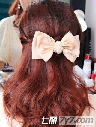 好看的刘海编发盘发发型 简单教程打造淑女发型【11】