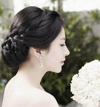 9款韩式盘发 新娘妆写真发型集锦图片