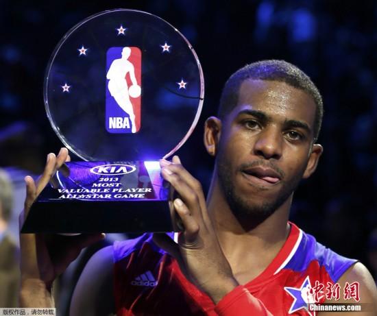 西部取NBA全明星赛三连胜 保罗首夺MVP