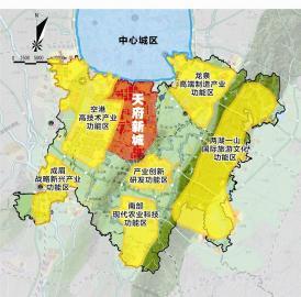 四川 天府新区核心区域天府新城规划出炉图片