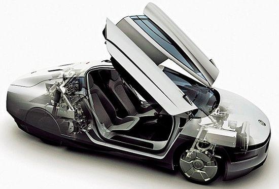 大众宣布上半年投产xl1柴油混合动力车高清图片