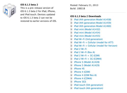 苹果 ios/苹果或在本周发布iOS 6.1.3正式版(图片来自cnbeta)