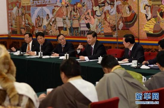 (两会)(2)习近平参加西藏代表团审议