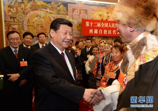 (两会)(3)习近平参加西藏代表团审议