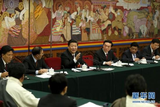 (两会)(1)习近平参加西藏代表团审议