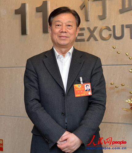 全国政协委员、中国工程院副院长干勇  (人民网 于凯 摄)