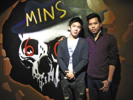 兩位年輕創業者(左為劉旭升,右為吳杰華)