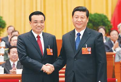 十二届全国人大一次会议决定 李克强为国务院总理
