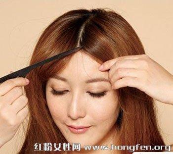 中长发发型扎法 巧用刘海编发修饰脸型【2】