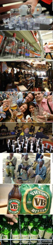 外媒评出世界10大最爱喝酒国家 中国排第2(组图)