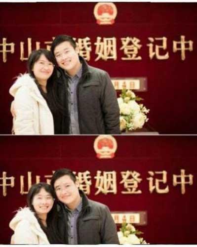 神级夫妻换脸图爆红 图片来源网络
