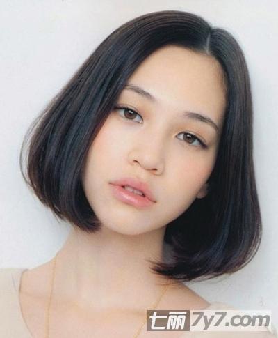 短发内扣梨花头图片大全 梨花头发型,朦胧感的短发,内扣图片