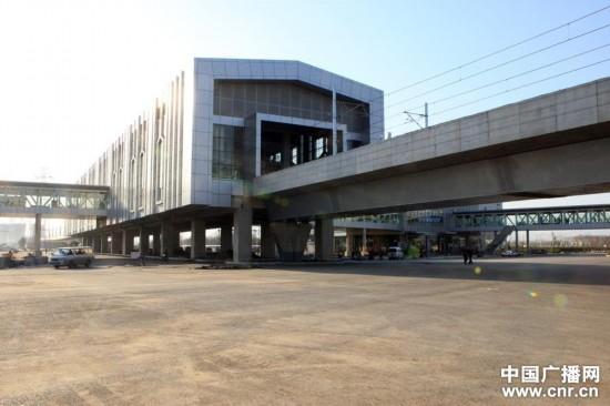 北京地铁14号线园博园站主体工程完工