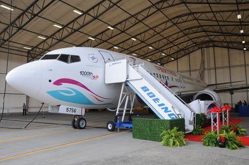 波音公司向中国交付第1000架飞机