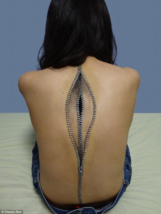 日本女大学生创意人体彩绘(组图)