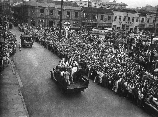 放前夕的上海 陕西频道 人民网 -1949年解放前夕的上海图片