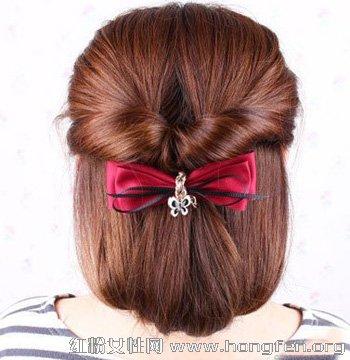 长发怎样变短发 简单韩式盘发让长发变短图片