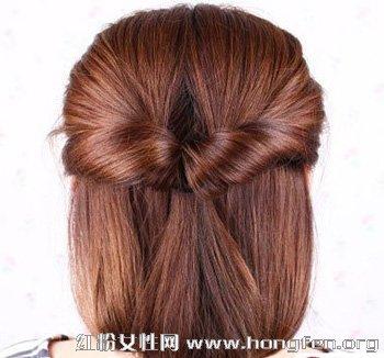 简单韩式盘发让长发变短