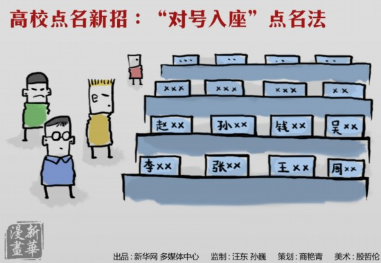 新华漫画:高校点名进化论
