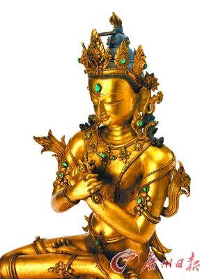 15世纪铜鎏金金刚萨�首�像