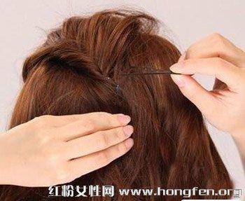 2013短发发型扎法图解 简单甜美又时尚【4】