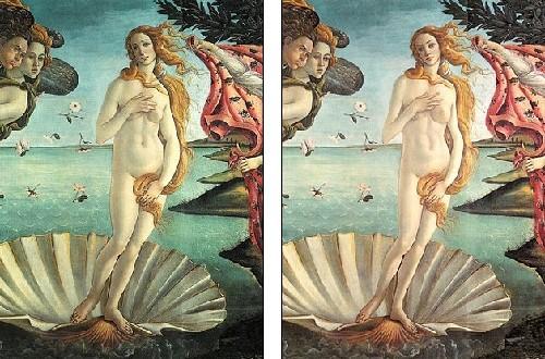 《维纳斯的诞生》中,这个爱与美的女神的身材如当今的T台模特一样图片