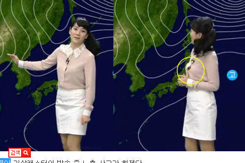 韩国女主播衬衣崩开露乳 盘点超胆大的性感女