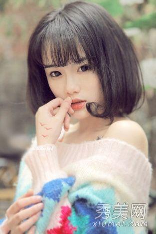 齐肩款韩式短发发型 凸显清秀甜美范【图】