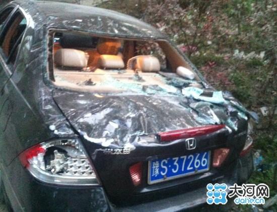 被打砸的车辆