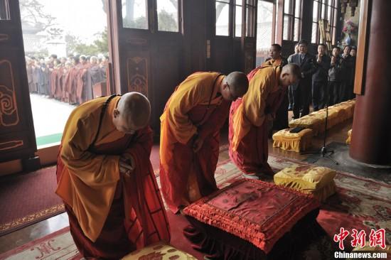 中国佛教协会为芦山地震受灾民众祈福