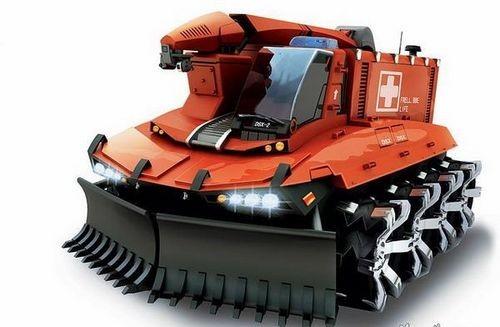 """.   """"全地形突击救援车""""是一款颇似变形金刚的全能救援车高清图片"""